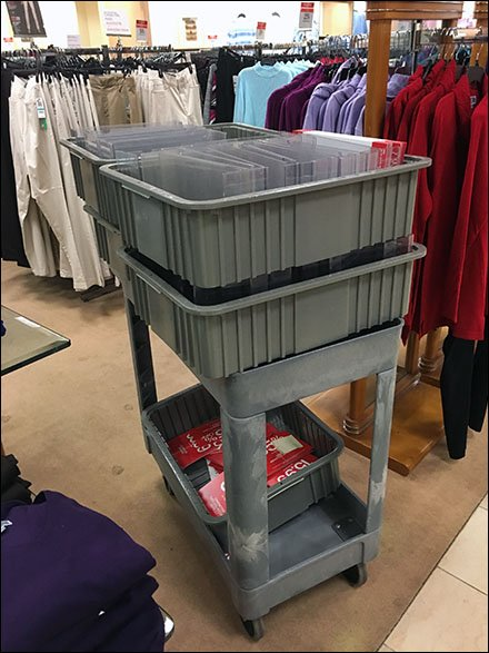 Visual Merchandising Sign Cart For Retail