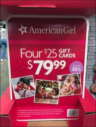 American Girl 4 Gift Cards 3