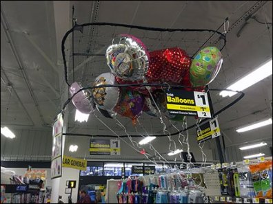 Ceiling Corral Balloon Merchandising