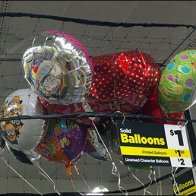 Ceiling Corral Balloon Merchandising