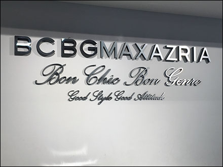 BCBGMAXAZRIA Brand Word Breaks