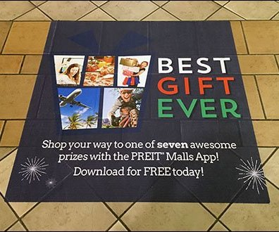 Best Gift Ever Mall Floor Graphic Aux