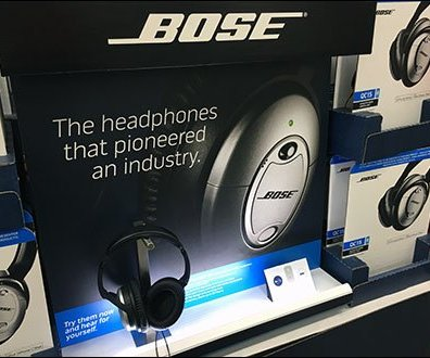 Bose Headphone Display Backlit