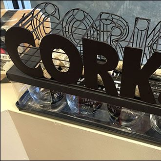 Cork Caddy Merchandising Closeup