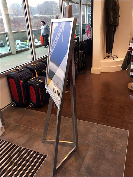 Doorbuster Hinged Easel Promotion