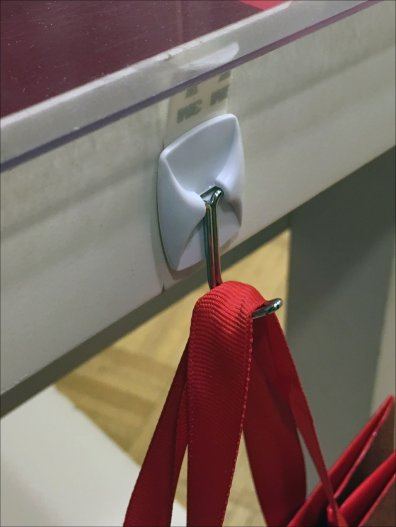 Adhesive J-Hooks for Gift Bags