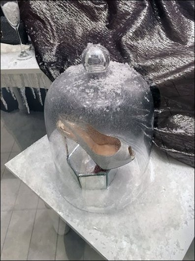 High Heel Frosted Bell Jar 2