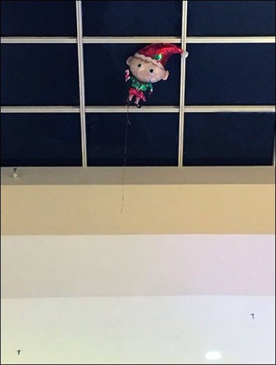 Inflatable Elf Escapes Santa 2