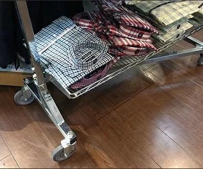 Nautica Mobile Cart Merchandising