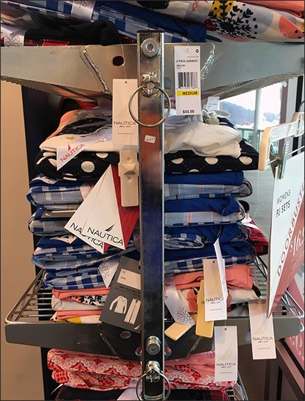 Nautica Cart Merchandising Window Display