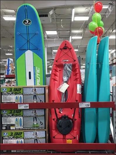 Kayak Merchandising in Center Store