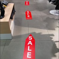 Sale This Way Floor Graphic Trail 1