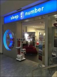 Up-Down Sleep Number Store Branding