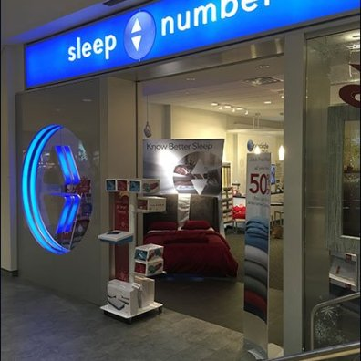 Up-Down Sleep Number Store Branding