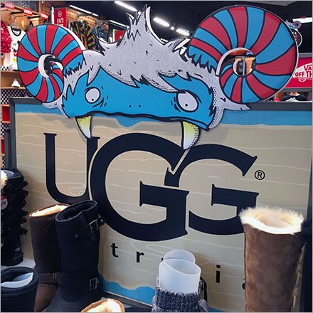 Ugg Yeti or Not Display Concept