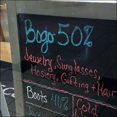 Winter Flourescent BOGO Chalkboard 2