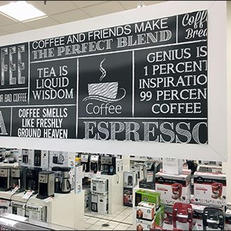 Coffee & Tea Maker Chalkboard Merchandising