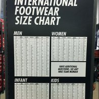 Nike In-Store International Sizing Chart