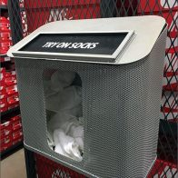 Nike Try-On Disposable Socks Container