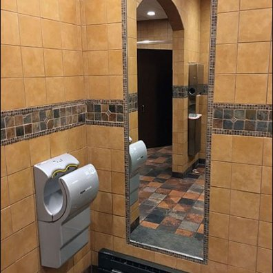 Restroom Full Length Tiled Mirror