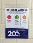 Restroom Urinal Advertising Closeup