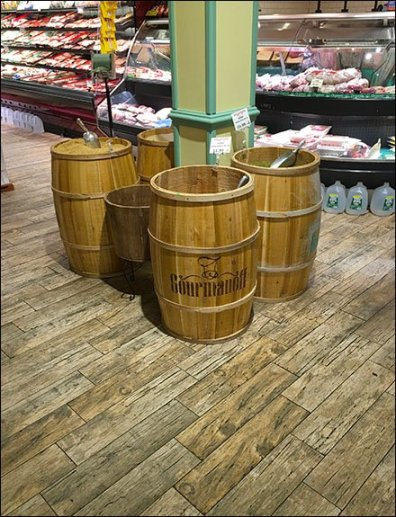Gourmanoff Produce Branded Barrel Bulk Bins 1