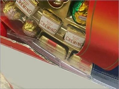 Sorini Mated-Tray Chocolate Display at Gourmanoff