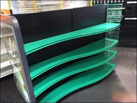 Green Gondola Serpentine Curve Shelves