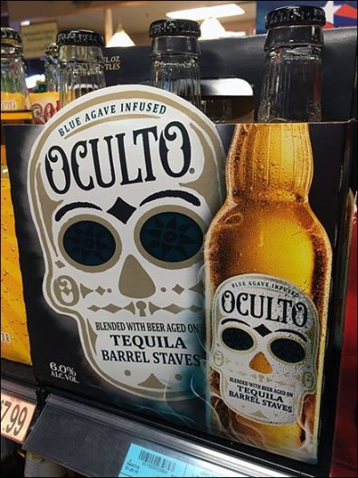 Oculto Tequila Beer Shelf-Edge Branding
