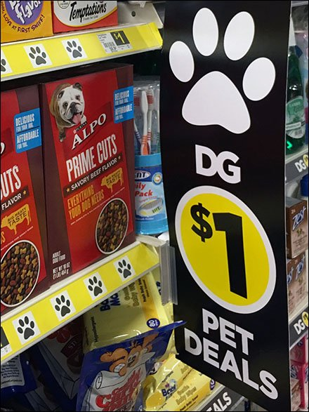 Paw-Signed Pet Deals At Dllar General Main