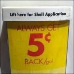 Shell Gas Pump Maxi Literature Holder