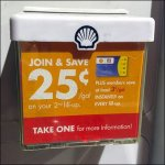 Shell Join & Save Gas Pump Literature Holder Aux