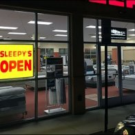 Sleepys Night Time Open Sign 2