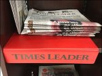 Times Leader Branded Plastic Shelf Overlay Front