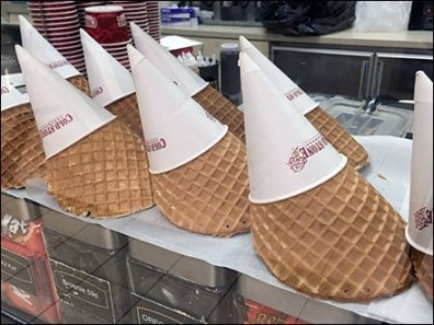 Cold Stone Creamery Waffle Cone Display