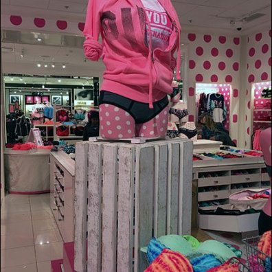 Wood Slate Crate Pedestal at Victorias Secret 2