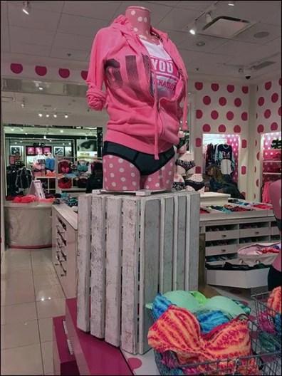 Wood Slate Crate Pedestal at Victorias Secret 2