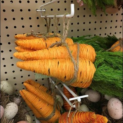 Carrots on Flip Front Pegboard Scan Hook 2