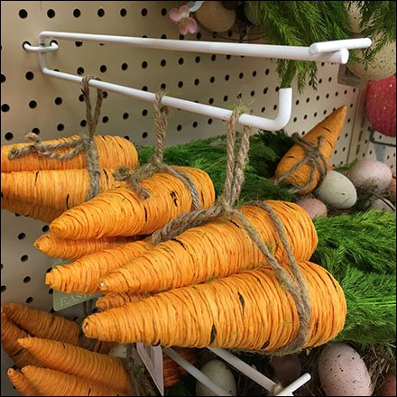 Carrots on Flip Front Pegboard Scan Hook Main