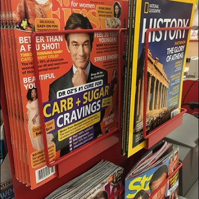 Cashwrap Staggered Magazine Rack 1