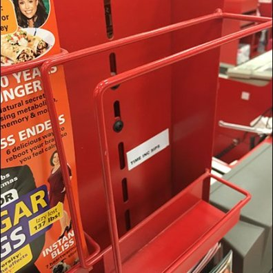 Cashwrap Staggered PowerWing Side-load Magazine Rack