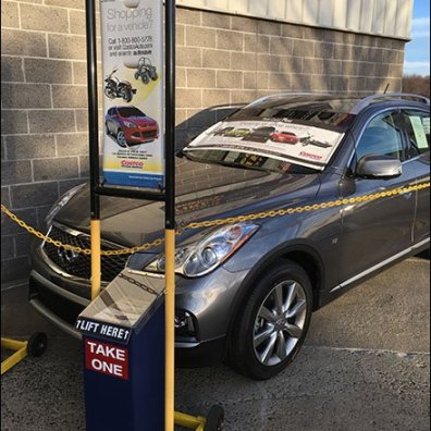 Costco Outdoor Auto Sales Literature Rack 1