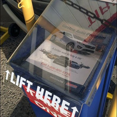 Costco Outdoor Auto Sales Literature Rack 3