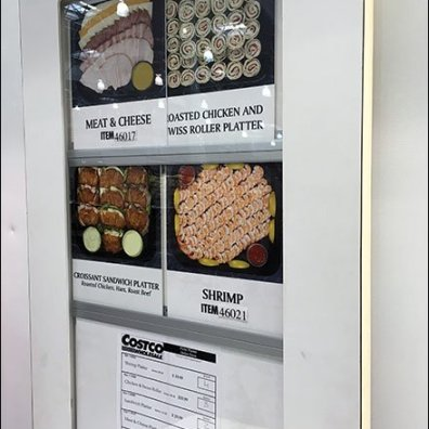 Costco Self-Service Party Platter Order Station