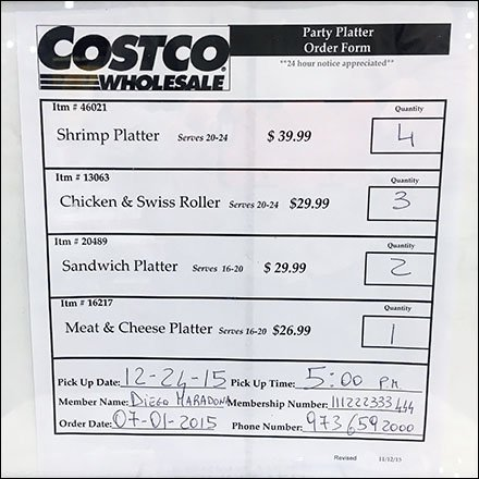 Costco Party Platter Order Form UpSell Fixtures Close Up