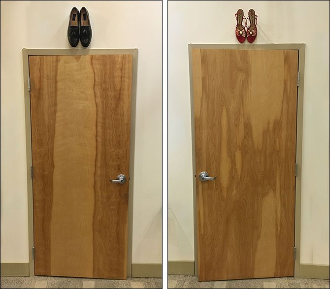 Do-It-Yourself Shoe Store Restroom Signs