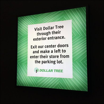 Dollar Tree Round-About Mall Navigation Main