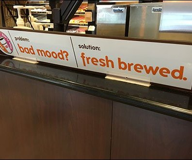 Dunkin Donuts Bad Mood Fresh Brewed