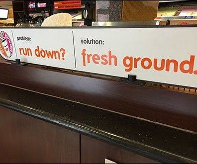 Dunkin Donuts Run Down Fresh Ground
