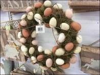 Easter Egg Wreaths Back Labelled Pegboard Hook 1